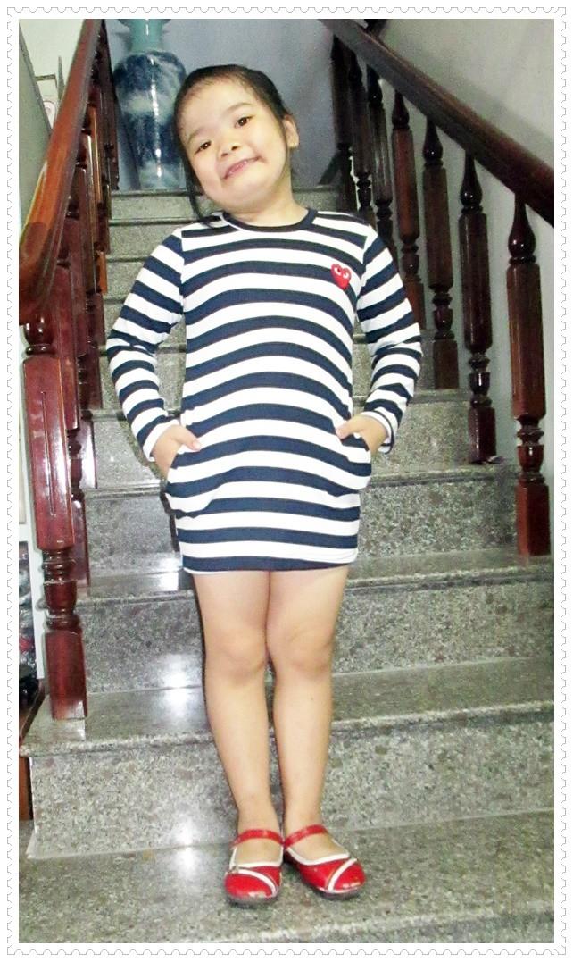 Đầm thun tay dài bé gái 8