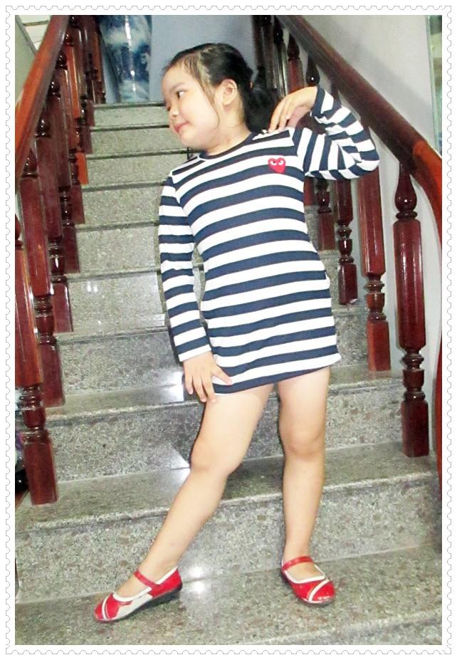 Đầm thun tay dài bé gái 3