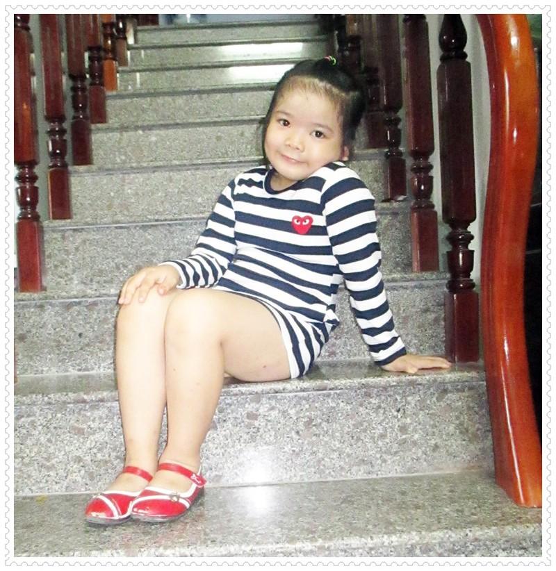 Đầm thun tay dài bé gái 4