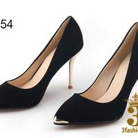 Giày cao gót đẹp - Giày cao gót giá rẻ - Giày cao da lộn gót cao 7cm