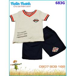 Sét áo thun phối quần kaki lịch lãm cho bé