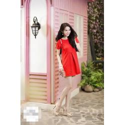 Đầm suông Ngọc Trinh nơ eo D071