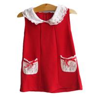 Đầm thun viền ren đỏ XN023 BEVADOCHOI