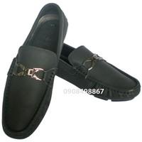 Giày da lười khóa thời trang