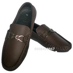Giày da lười khóa thời trang công sở