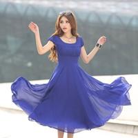Đầm Vintage form dài