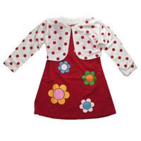 Đầm kèm áo khoác đỏ BH196 BEVADOCHOI