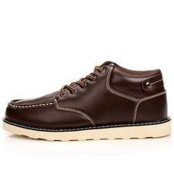 Giày da nam thời trang, thuần màu thắt dây năng động, mẫu mới