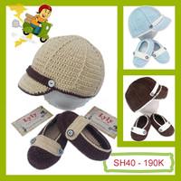 Set Giày - Mũ Len cho bé - SH40