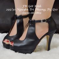 Giày cao gót khoét dạng giọt nước cao 10 cm - GX152