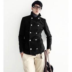 áo khoác thu đông cổ trụ Mã: NK0599 - ĐEN