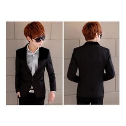 Áo khoác nam giả vest phối màu Mã: NK0595 - ĐEN