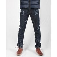 Hằng Jeans - Quần jeans nam côn bó xanh đen 15K2011