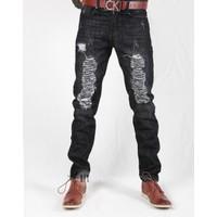 Hằng Jeans - Quần jeans nam ống côn rách độc đáo 15PT6040