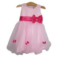 Đầm công chúa đính nơ hồng SBT013 BEVADOCHOI
