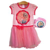 Đầm công chúa băng giá kèm túi hồng XN033 BEVADOCHOI
