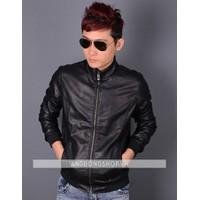 Áo khoác da cao cấp màu đen
