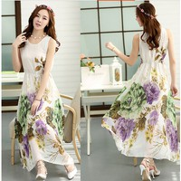 Đầm Maxi Hoa Tranh Sành Điệu YKX13