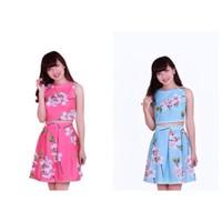 Set áo hoa + chân váy cao cấp SAVD011