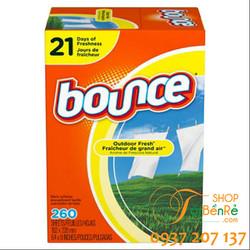 Giấy thơm dùng để sấy - ủ quần áo Bounce 320 tờ của Mỹ