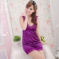 Váy Ngủ Đẹp Lụa Ren Tím