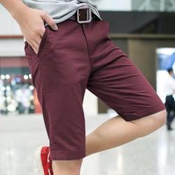 Quần short kaki nam màu đỏ Bordeaux