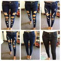 Quần jeans lửng rách bella MK6014-S160