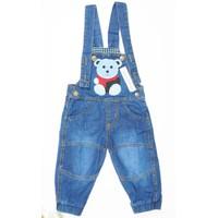 Bộ yếm jean gấu quần dài BY-051