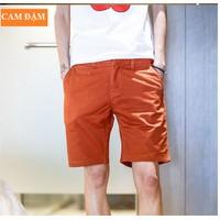 Quần short kaki nam màu cam đậm