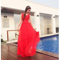 Đầm maxi dạ hội dài pha ren cao cấp tuyệt đẹp #201