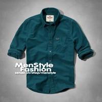 Men Style - Áo sơ mi VNXK cao cấp SMNXK01 xanh cổ vịt