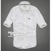 Men Style - Áo sơ mi VNXK cao cấp SMNXK02 trắng Aber