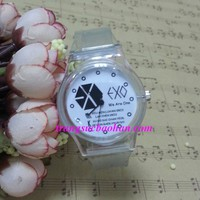 Đồng hồ Plastic EXO trong suốt cực Cute