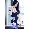 Đầm body trễ vai xanh Ngọc Trinh