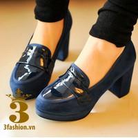 Giày cao gót nữ - Giày cao gót - Giày cao gót Mary Jane da lộn