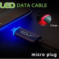 Cáp Micro USB Led Chính Hãng Golf