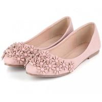 BB3 - Giày búp bê đính hoa nhập Korea