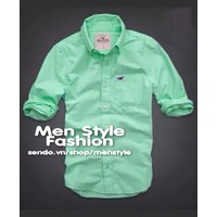Men Style - Áo sơ mi VNXK cao cấp SMNXK05 xanh cốm