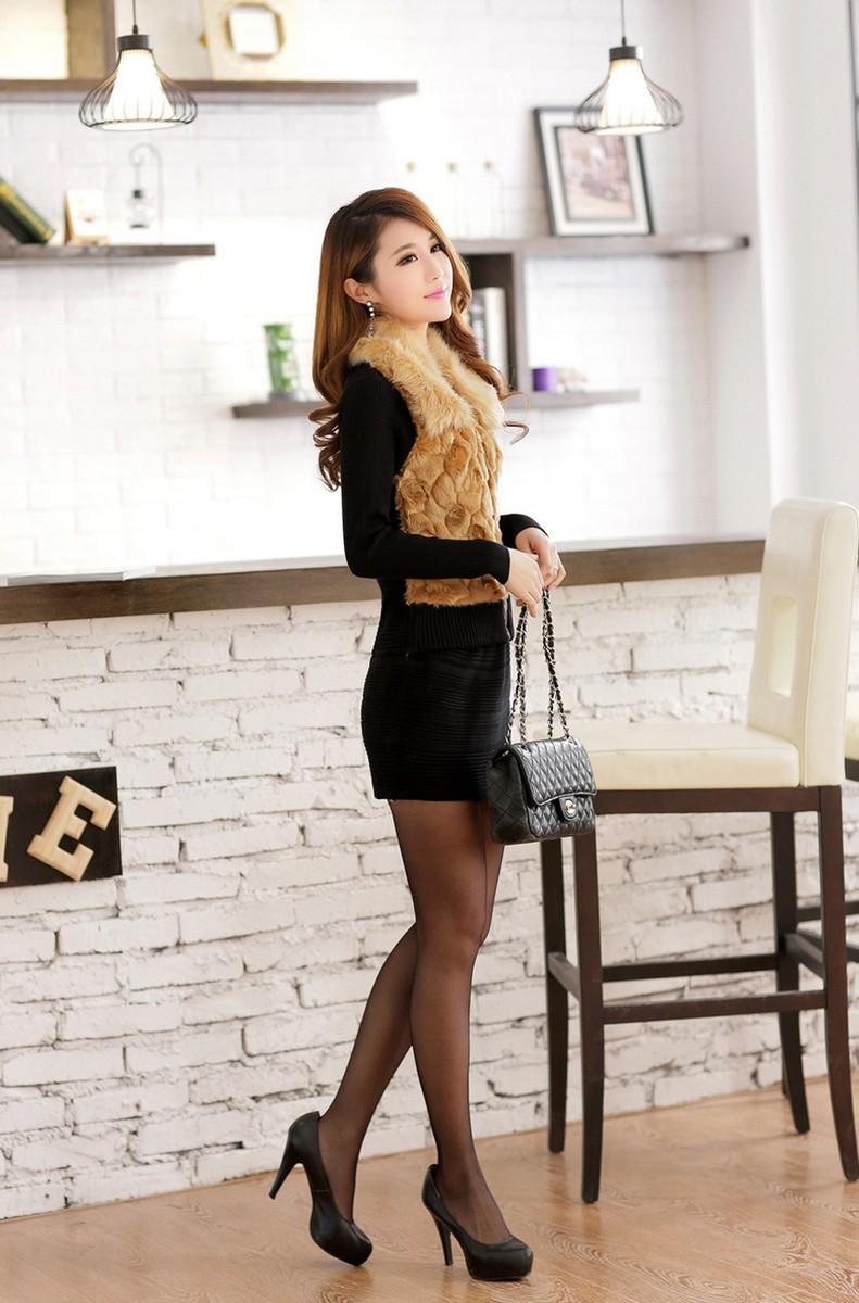 Váy đầm phối lông duyên dáng DL595 4