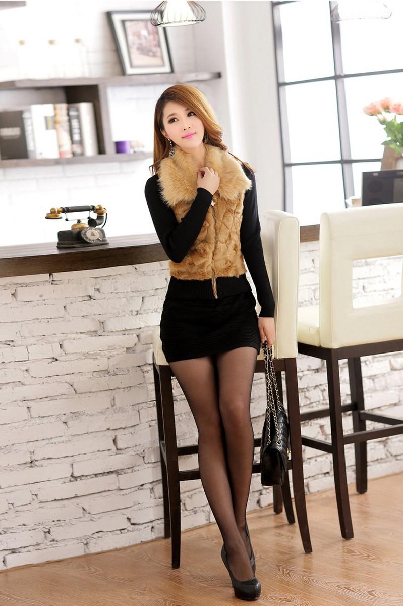 Váy đầm phối lông duyên dáng DL595 7