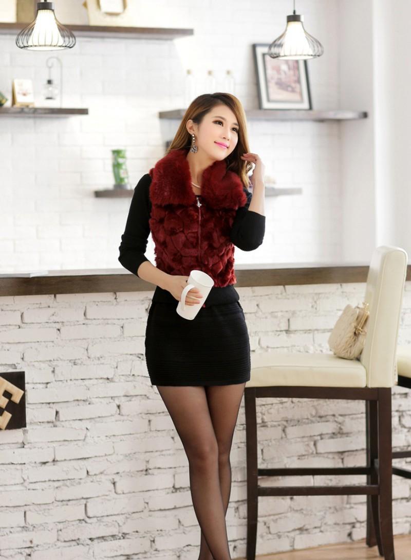 Váy đầm phối lông duyên dáng DL595 11