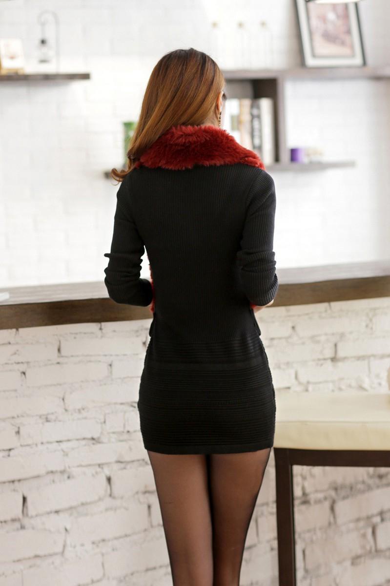Váy đầm phối lông duyên dáng DL595 10