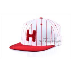 Mũ nón hip hop bóng chày sọc chữ H hàng nhập cc sỉ lẻ
