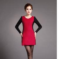Đầm body phối đỏ đen sang trọng