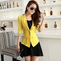 Áo khoác vest vàng nhập Hồng Kong