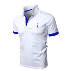 [TEDDY SHOP] Áo thun POLO nam logo hươu cao cổ mới HU-02