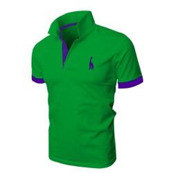 [TEDDY SHOP] Áo thun POLO nam logo hươu cao cổ mới HU-06