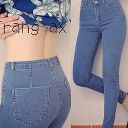 Quần jean lưng cao 1 nút giống dzung biez