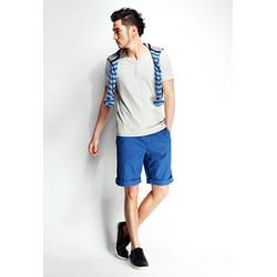 Quần short kaki nam màu xanh bích