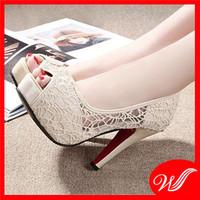 Giày cao gót ren G-122.2